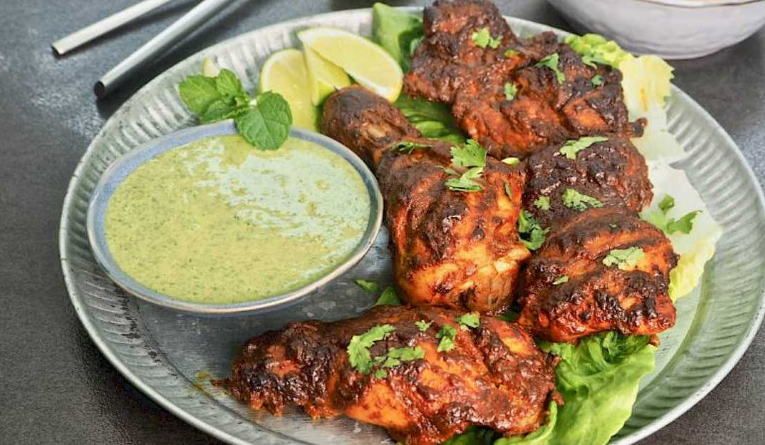 Tandoori Chicken with Indian Green Chutney